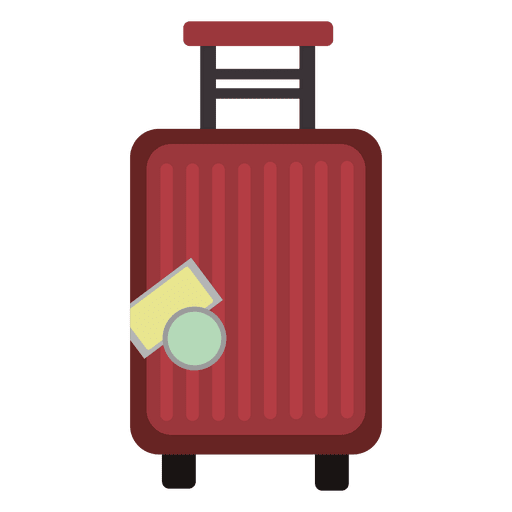 Trolly luggage travel icon - Transparent PNG & SVG vector