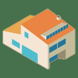 Isometrisches Haus mit zwei Geschichten