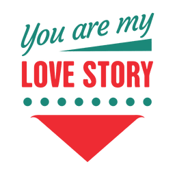 Typographical love story label