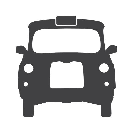Uk taxi cab icon Transparent PNG