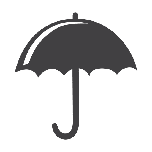 Flat umbrella icon Transparent PNG