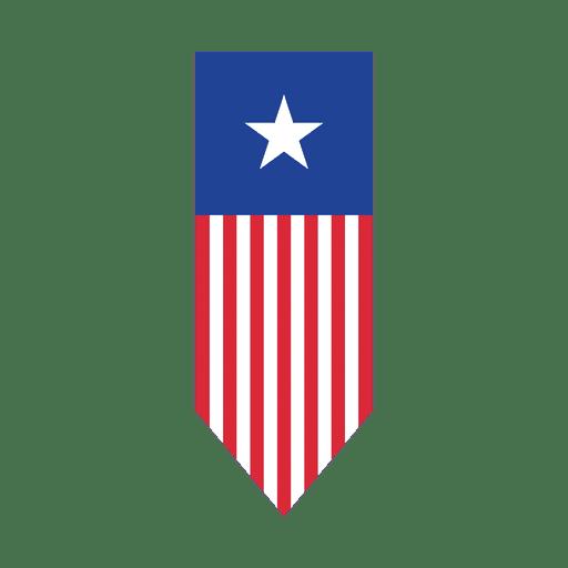 Cinta de punta de flecha de bandera de Estados Unidos Transparent PNG