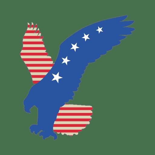 Águila volando bandera de estados unidos Transparent PNG