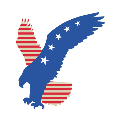 Usa flag flying eagle Transparent PNG