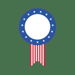 Rótulo oval de bandeira dos EUA