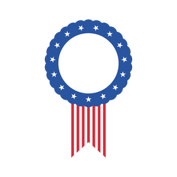 Usa flag oval label