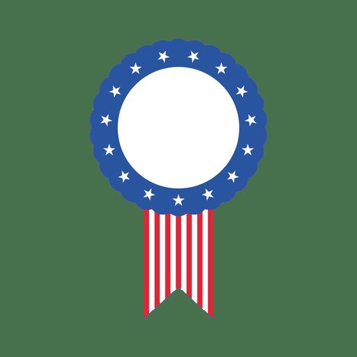 Rótulo oval de bandeira dos EUA Transparent PNG