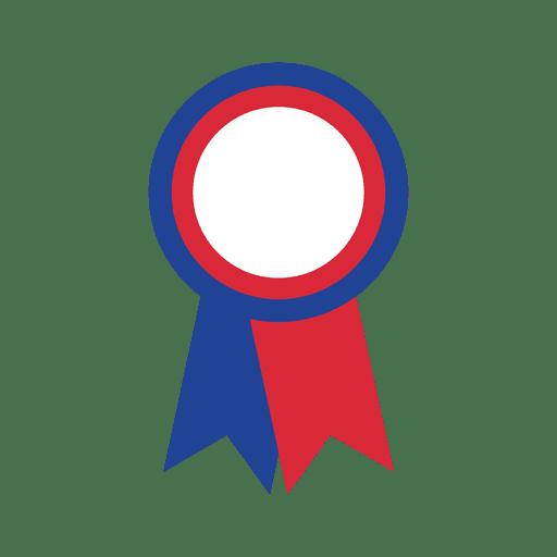 Usa flag print badge