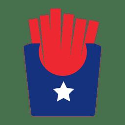 EE.UU. bandera de impresión patatas fritas