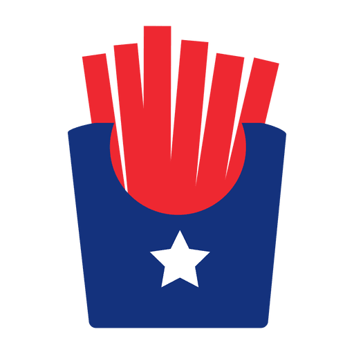 Usa flag print french fries