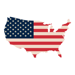 Usa flag print map