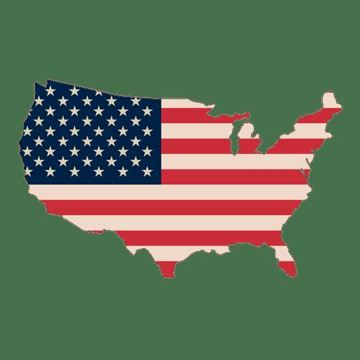 Bandera de Estados Unidos imprimir mapa