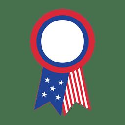 Distintivo de fita de bandeira EUA