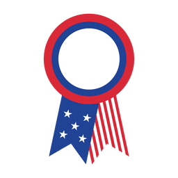 Usa flag ribbon badge