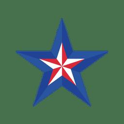 Bandera de eeuu estrella