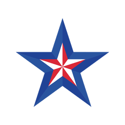 Estrela da bandeira dos EUA