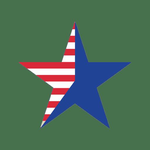 Ícone de estrela de bandeira dos EUA Transparent PNG