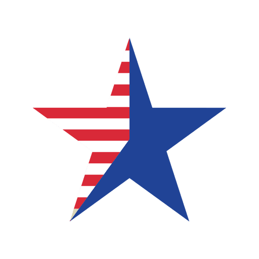Icono de estrella de la bandera de Estados Unidos Transparent PNG