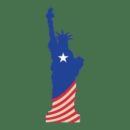 Bandera de los Estados Unidos estatua de la libertad