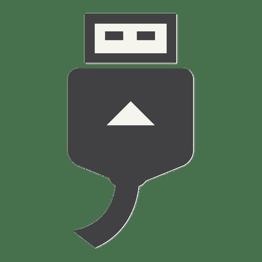 Icono plano de cable usb Transparent PNG