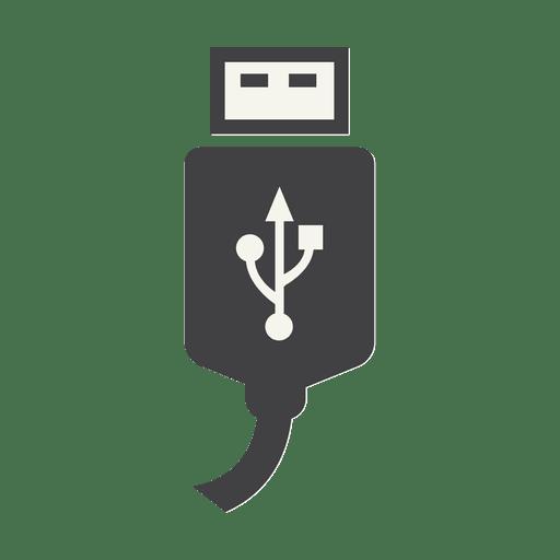 Ícono de cable del cargador USB Transparent PNG