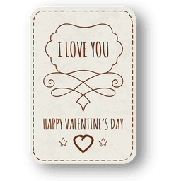 Valentines day hand drawn badge