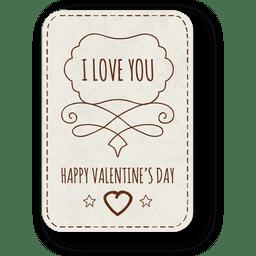 Valentines day hand drawn badge