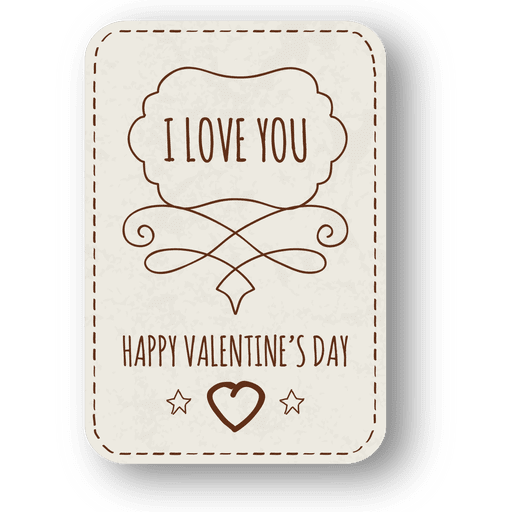 Valentines day hand drawn badge Transparent PNG