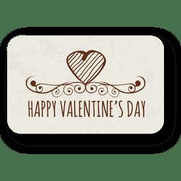 Dia dos namorados coração emblema ornamentado