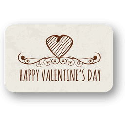 Valentines day heart ornate badge