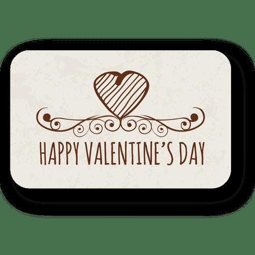 Dia dos namorados coração emblema ornamentado Transparent PNG