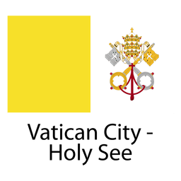 Ciudad del Vaticano santa ver bandera nacional