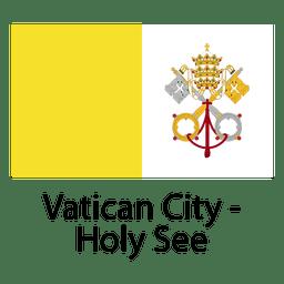 Vatikanstadt heilig sehen Staatsflagge