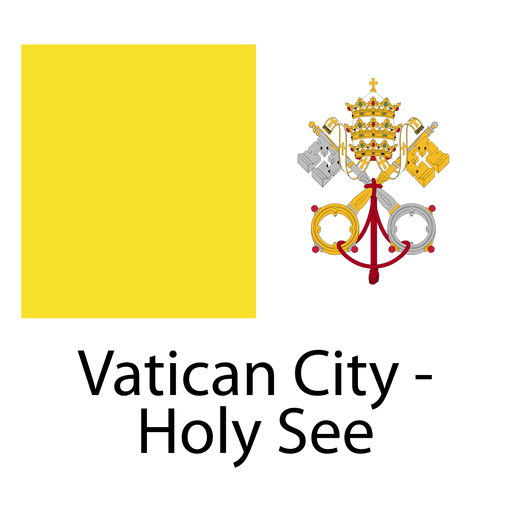 Vatican city holy see national flag