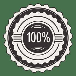 Etiqueta de 100 por ciento de la vendimia