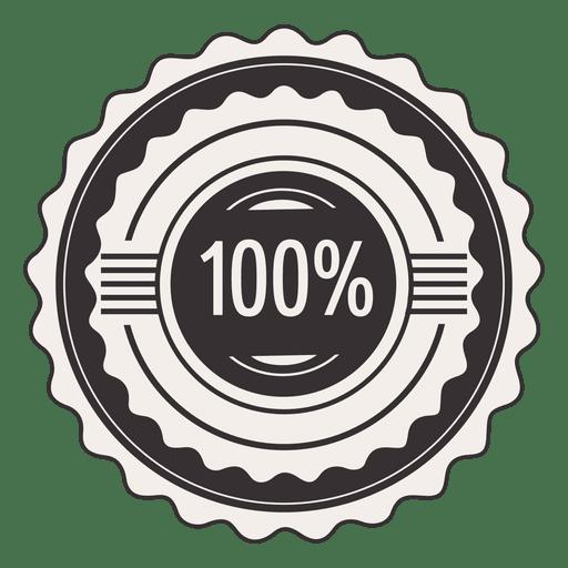 Jahrgang 100 Prozent Label Transparent PNG