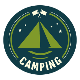 acampar arredondados vintage selo
