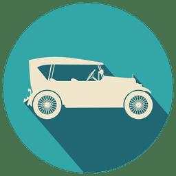 Ícone de círculo de carro antigo