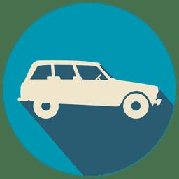 Icono plano de coche de época