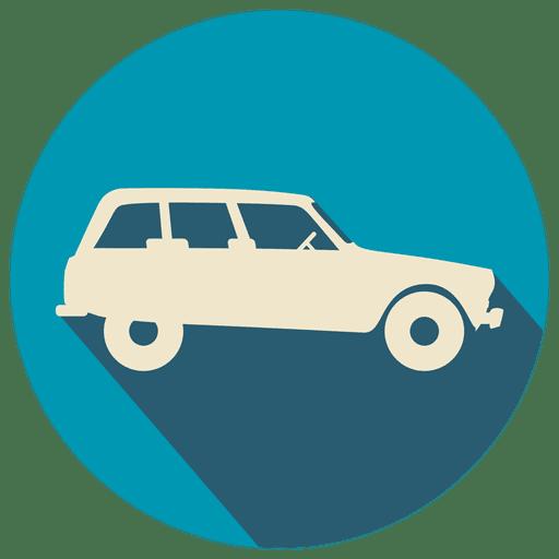 Vintage car flat icon