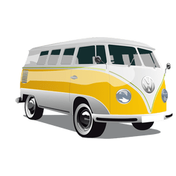 Vintage glossy cargo bus