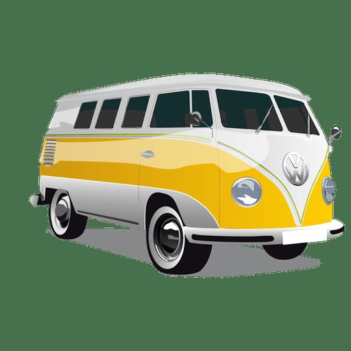 Ônibus de carga lustroso vintage Transparent PNG