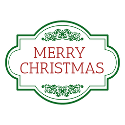 Vintage rounded christmas seal
