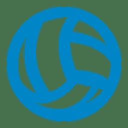 Pelota de voleibol icono