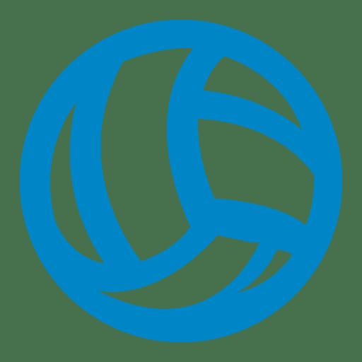 Ícone de bola de vôlei Transparent PNG