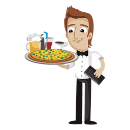 Waiter funny cartoon