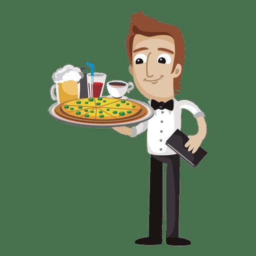 Dibujos animados graciosos camarero Transparent PNG