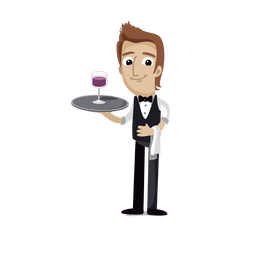Waiter profession cartoon.svg