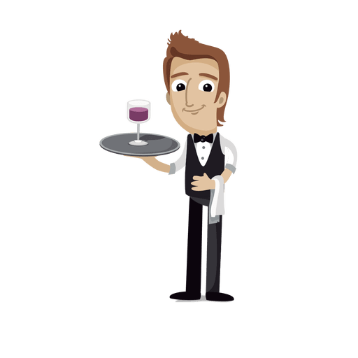 Profesión de camarero cartoon.svg Transparent PNG