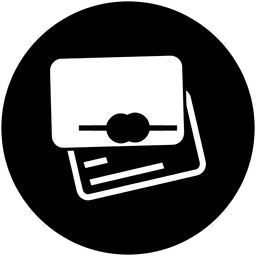 Wallet round service icon